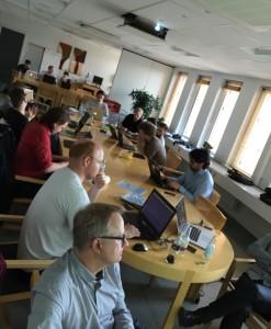 Workshop om Danmarks Statistiks API. Billede frigivet under CC-BY 2.0