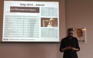 Kresten Morten fra DR's undersøgende databaseredaktion fortæller om datajournalistisk dækning af dansk politik.