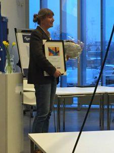 Merete Sanderhoff med Åben Data Prisen 2018